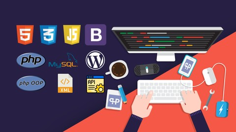5 Courses: The Complete 2020 PHP Full Stack Web Developer Bootcamp, HTML, CSS, JavaScript and BootStrap