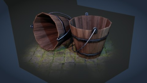 How to Create a Wooden Bucket Prop with Blender 2.8