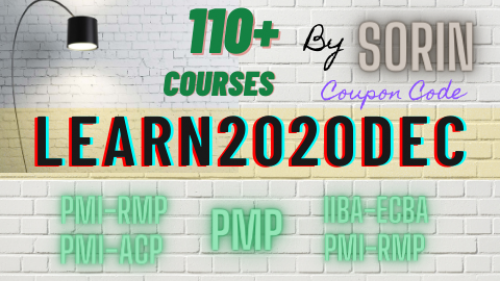 [Code: NOVOLEARN2020] 115 Courses – PMP (42 Hours), Agile (32 Hours), PMI-RMP/IIBA-ECBA (37 Hours), Business Analysis (16.5 hours), Operations Management (13.5 Hours) & More