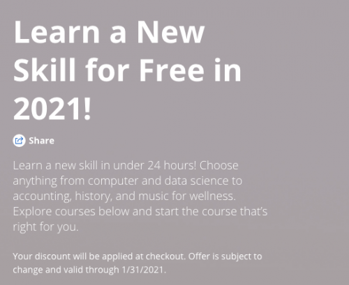 21 Free Courses for 2021 – Coursera
