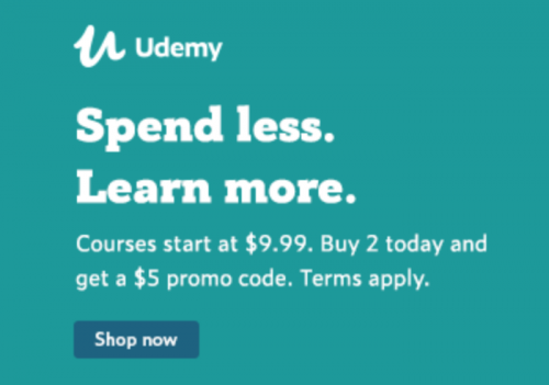 (Today Only) Get  Promo Code when you Buy 2 Courses start at .99