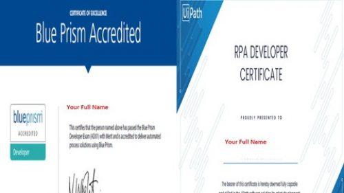 100% Discount] BLUE PRISM & UIPATH certificates (Screenshots of reel