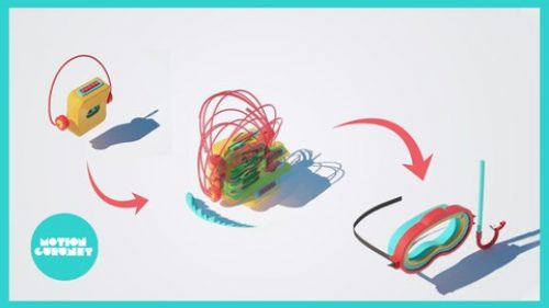 Complete course of making 3D motion graphics in Cinema4D