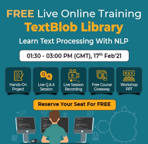 Free Online Training to Learn Text Processing with NLP on 17th Feb'21 at 1:30 PM – 4:30 PM GMT