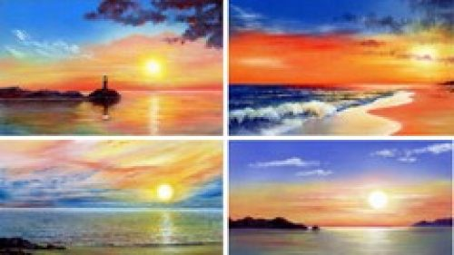 Learn To Draw Sunsets with Pastel Pencils